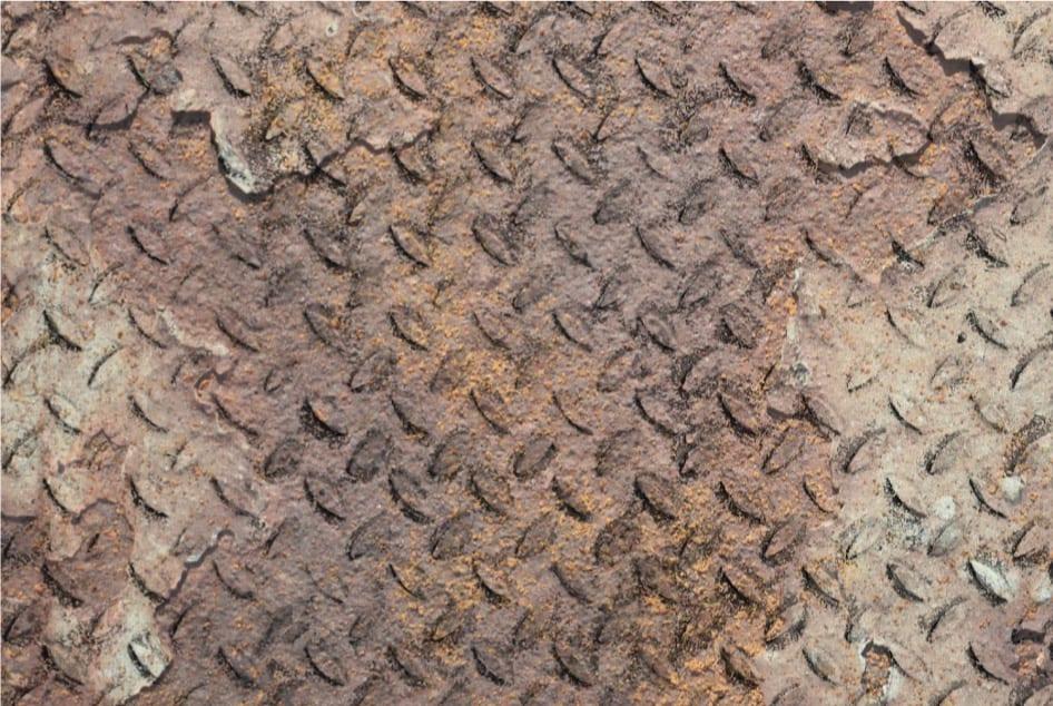 ברזל ריפל מרוקע חלוד
