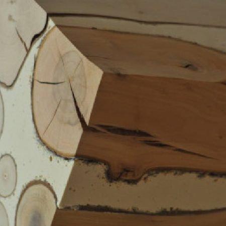 בטון על בסיס מלט לבן בשילוב עץ מלא